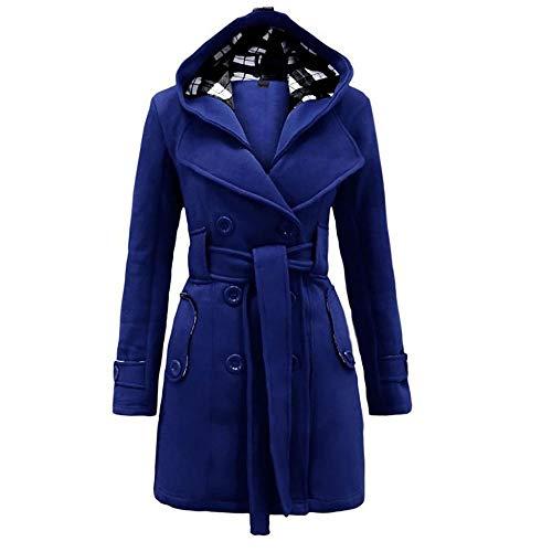 GAOJUAN 2018 En Winter vrouwen Trench Coat Stijlvolle Effen Gekleurde Stitching Dubbele Borst Lange Sleeved Pak Kraag Katoen Jas Riem Jacket Losse Plus Size Slim Fitted Style Coat