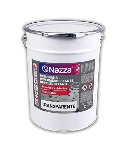 Membrana Impermeabilizante de Poliuretano TRANSPARENTE | Revestimiento elástico para realizar impermeabilizaciones en TERRAZAS, CUBIERTAS Y AZOTEAS de alta calidad y resistencia | 15 Litros