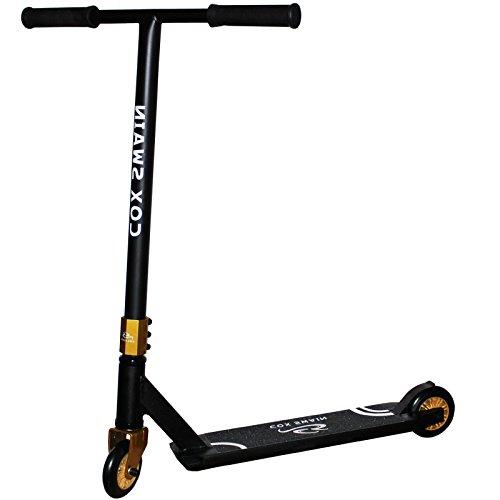 Cox Swain Stunt Scooter Ramp-X345 - ABEC 9 und PU Rollen! - Super Heavy Quality!, Farbe: Schwarz