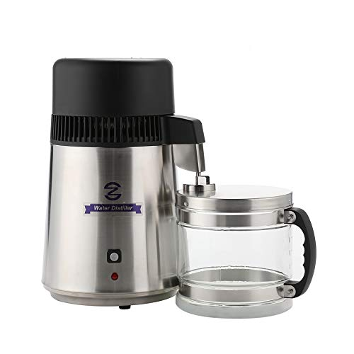 CO-Z 110V Brushed Stainless Steel Water Distiller, FDA Approved Distilling Pure Water Machine for...