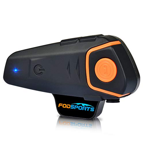 Motorrad Kommunikation System, Fodsports BT-S2 1000M Motorrad Helm Intercom und Bluetooth Gegensprechanlage Walkie-Talkie for Motorbikes, Scooters and Skiing