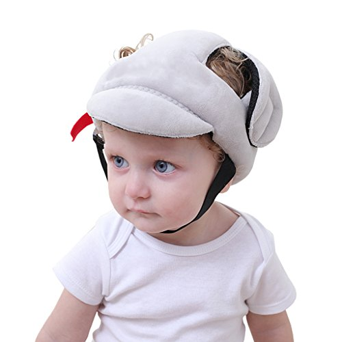 Toddler Safety Helmet, Baby Head Protection Helmet for Walking Crawling,Grey