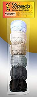 Presencia Finca Perle Cotton Thread Sampler Pack, Size 5/10 Gram - Neutral (for sashiko, Embroidery, and Quilting)