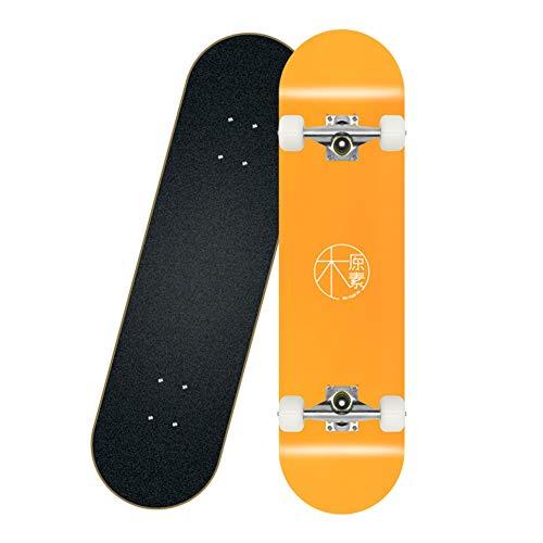 GXYAS Skateboard Deck, Kinder Skateboard, Komplettes Board mit ABEC-7 Lager 7-lagigem Ahorn Deck, Geeignet für Teenager Anfänger Mädchen Jungen Kinder Erwachsene B