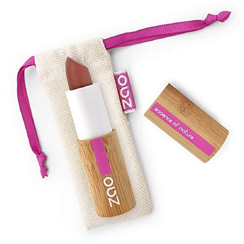 ZAO Matt Lipstick 467 milchschokolade braun Lippenstift, in nachfüllbarer Bambus-Dose (bio,...