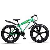 MOLINGXUAN Mountain Bike, da 26 Pollici a 27 velocità 4.0 Pneumatici Larghi, off-Road Beach Motoslitte, Mountain Bike Outdoor per Uomini e Donne, Biciclette Outdoor Ciclismo,F