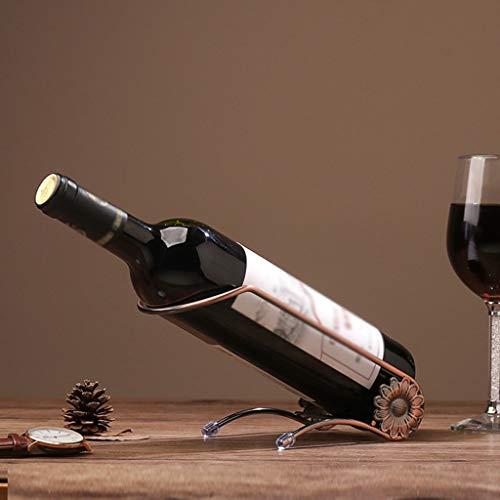 Wffo - Botellero de Hierro Forjado para Botellas de Vino