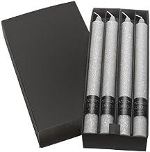 شموع عشاء Timberline Arista غير المعطرة مقاس 22.86 سم من Root Boutique باللون الأبيض، صندوق من 4 قطع