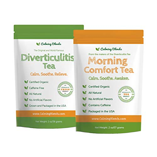 Diverticulitis and Diverticulosis Tea | Calming Blends Morning Comfort Tea | Certified Organic, 2 Pack