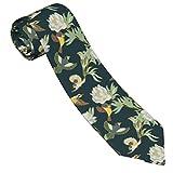 Gokruati Corbatas para hombre, elegante corbata delgada para hombre, corbata con estampado personalizado para bodas, fiestas, negocios, 145 cm, tamaño perfecto para unisex, pájaro