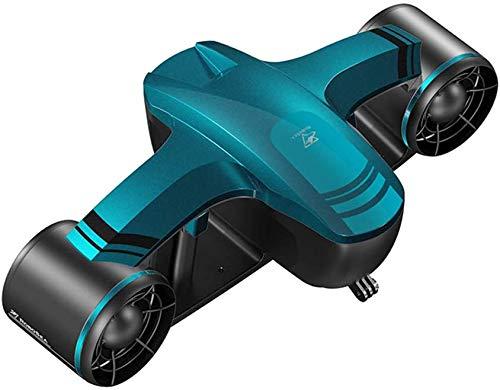 Scooter Submarino, Booster Submarino, Scooter de mar para Aventura de Snorkel, hélice de Dos velocidades Marinas de Agua Scooter de Buceo, Azul