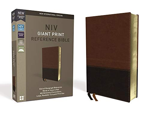 Compare Textbook Prices for NIV, Reference Bible, Giant Print, Leathersoft, Brown, Red Letter Edition, Thumb Indexed, Comfort Print Lea Lgr Edition ISBN 9780310449522 by Zondervan