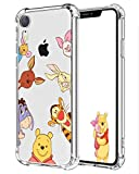 Darrnew Bear Family Case for iPhone XR Cartoon Soft TPU Cute Fun Cover, Kawaii Unique Kids Girls Women Cases, Funny Ultra-Thin Bumper Character Rubber Skin Shockproof Protector for iPhone XR 6.1'