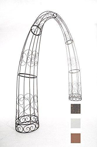 CLP XXL-Rosenbogen TOSKANA | Rankhilfe aus Eisen | Romantischer Rankenbogen erhältlich, Farbe:Bronze