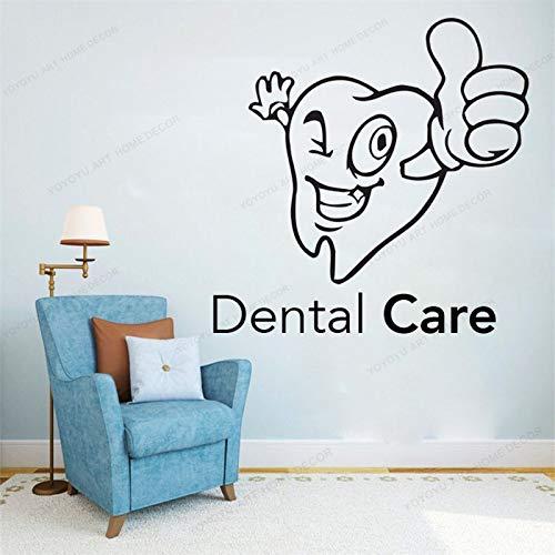 ASFGA Love Life Mundschutz Hygiene Zahngesundheit Wandaufkleber Zähne Zahnarzt Reparatur Zähne Füllen Weisheit Zähne Klinik 57X57CM