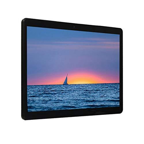 healthwen Pantalla IPS de 10,1 Pulgadas Android 8.0 Tablet PC de Diez núcleos Tipo de Agujero Redondo Llamada de teléfono 3G con función GPS FM Tableta Negro EU 220V 1G + 8G