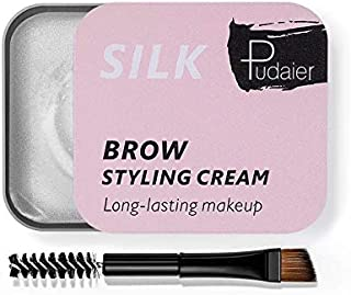 PUDAIER Eyebrow Soap Wax With Trimmer Fluffy Feathery Eyebrows Pomade Gel For Eyebrow Lamination Makeup Soap Brow Sculpt Lift