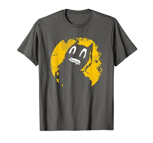 Disfraz de gato de dibujos animados para niños de luna amarilla - Halloween de miedo Camiseta