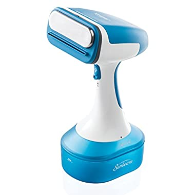 Sunbeam Handheld Garment Travel Steam Press for Clothes, Bedding, Fabric, Odor removing, Dust mites, Bed bugs
