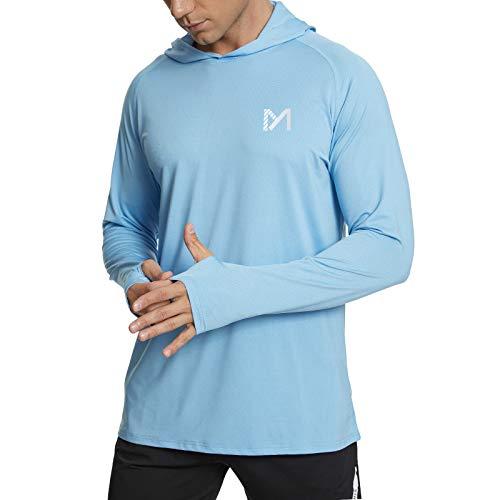 MEETYOO Hombre Camiseta Protección UV, Camisa Manga Larga UPF 50 Camisetas Deportivas...