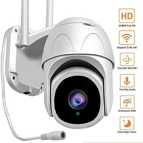 AINSS H.265 1080P HD 2MP WiFi Esterno Wireless IP PTZ Camera Humanoid Tracking Cloud AI Speed Dome Telecamere Card Zoom 4X Audio Sirena Allarme Telecamera CCTV IR 35M Onvif NVR Cam Fotocamera+64G