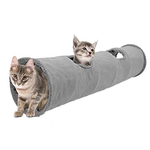 Liteness Túnel Plegable para Gatos, túnel de Juego para Gatos, Conejos, hámsteres, Perros pequeños