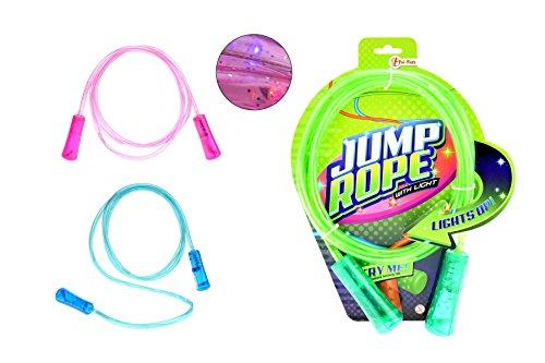 toi-toys–Cuerda de Saltar con luz 3varios inclusive pilas juguetes electrónicos, 68020z, multicolor , color/modelo surtido