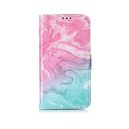 Marmor Flip Wallet Case für iPhone 11 Pro Max 12 X Xs Max XR 7 8 6 6S Plus Bookstyle Handyhülle 3D Vision Lederhüllen Coque-H-für iPhone Xs Max