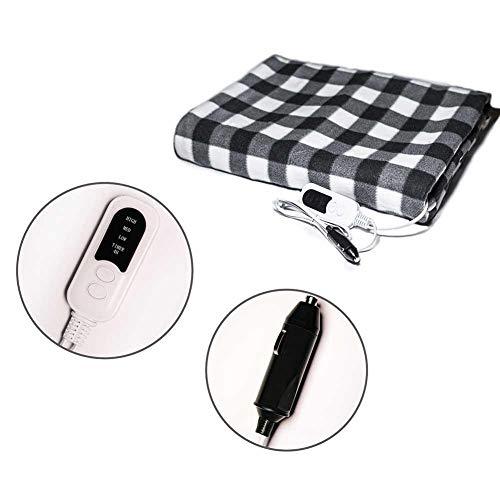 lingzhuo-shop 12V elektrisch verwarmde deken, auto, reis, smart multifunctioneel, voor auto, vrachtwagen, boten, bank of bed, 150 x 100 cm