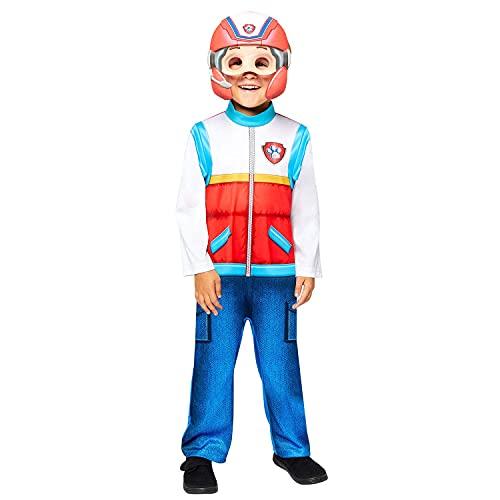 amscan Disfraz de Patrulla Canina Ryder 9909120 para niño (4-6 años), rojo, blanco y azul, (paquete de 2)