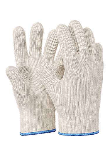 1pair Heat Resistant Gloves Oven Gloves Heat Resistant With Fingers Oven Mitts Kitchen Pot Holders Cotton Gloves Kitchen Gloves Double Oven Mitt Set Oven Gloves With Fingers