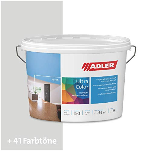 ADLER Ultra-Color Wandfarbe - Volltonfarbe und Abtönfarbe in 100+ Farbtönen - Buona Sera C12 177/4 Gelb 1 l Atmungsaktiv, Hochdeckend, Lösungsmittelfrei