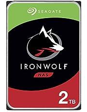 "Seagate Technology IronWolf, 2TB, NAS, Disco duro interno, HDD, CMR 3,5"" SATA 6 Gb/s, 7200 r.p.m., caché de 256 MB para almacenamiento conectado a red RAID (ST2000VN004) Plateado"