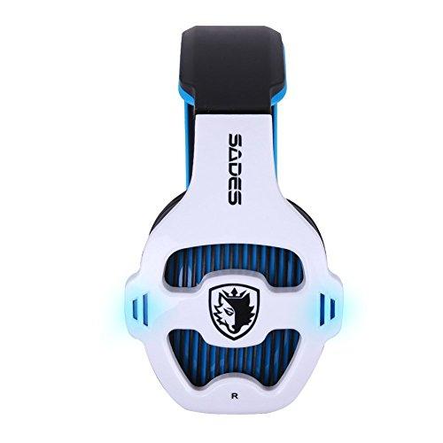 RONSHIN Sades SA903 7.1 Surround Stereo Sound USB Gaming Headset + Construido en Tarjeta de Sonido