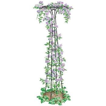 "Essex Garden Trellis 63"" Tall for Climbing Vegetables and Flowers, Decorative Flower Support"