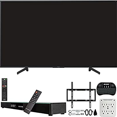 Sony XBR-65X800G 65-inch 4K Ultra HD LED Smart TV (2019) Bundle with Deco Gear 31-inch Sound Bar, Deco Mount Flat Wall Mount Kit, Deco Gear Wireless Keyboard, 6-Outlet Surge Adapter with Night Light