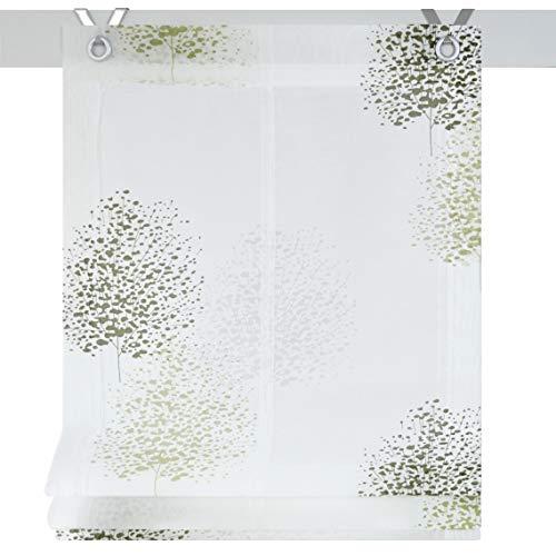 Kutti Raffrollo Ösenrollo Bellinda weiß grün Öse 60 x 140 cm