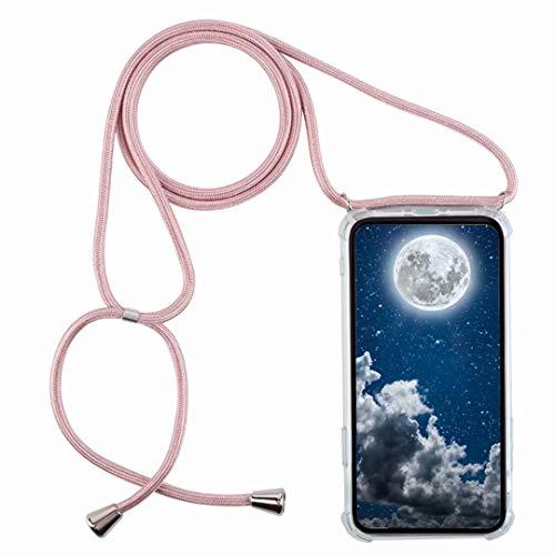 Funda con Cuerda para Samsung Galaxy A10,Moda y Practico Carcasa de TPU Mate Case Cover con Colgante/Cadena.