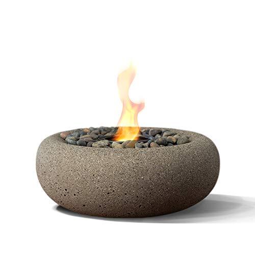 Terra Flame OD-TT-ZEN-BGE-03 Zen Table Top Fire Bowl, Beige