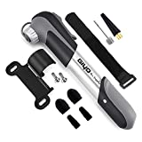 GIYO Mini Bike Pump Portable, High Volume Bike Bicycle Air Pump for Fast Pumping Fits Presta and Schrader Automatically, 4 Valve Caps and 2 Inflation Needles Included (80PSI)