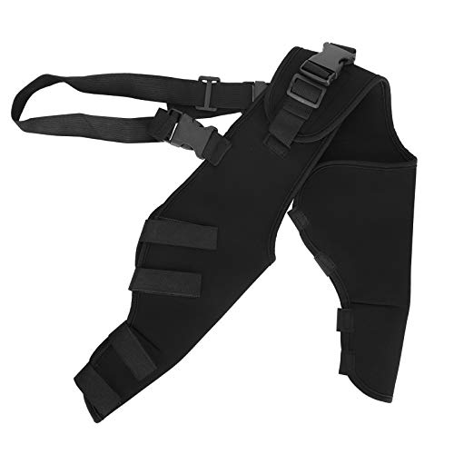 SALUTUYA SBR Material, Pet Adjustable Knee Brace Leg Support,Dog Legs Protector,Pet Legs Protector for Dogs Hind Legs Recover(M, HJ25 Rear Double Leggings Black)