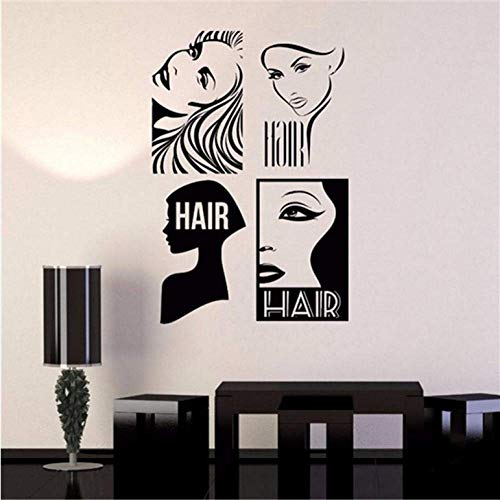 Top Fashion Sale Wandaufkleber Sexy Girl Frisur Wandkunst Aufkleber Fenster Aufkleber Friseur Haarschnitt Wandhauptdekor 58 * 85 Cm
