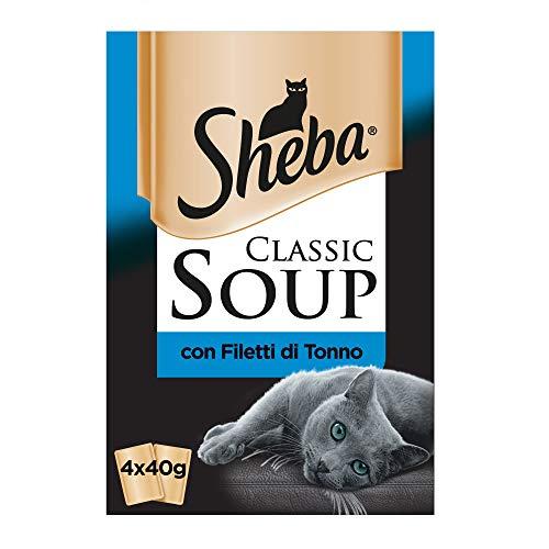 Sheba Classic sopa con filetes de atún, 12 x (4x40 g)4piezas