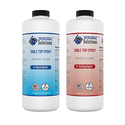 2 Quart Kit, Table Top & Bar Top Epoxy Resin, Crystal Clear High Gloss Finish, Self Leveling, Perfect for DIY Epoxy Counter Tops, Tabletops & Bars (Table Top)