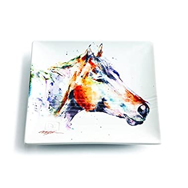 Demdaco 3005210345 Big Sky Carvers Horse Head Snack Plate, Multicolored