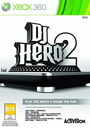 Activision DJ Hero 2, Xbox 360 - Juego (Xbox 360, Xbox 360, Música, T (Teen))