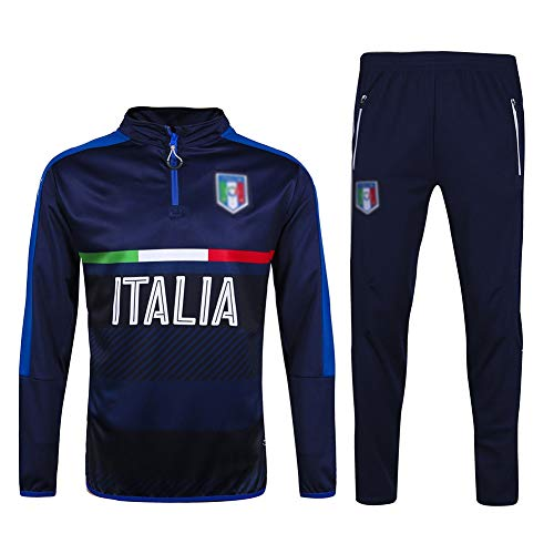 Dauerhaft Fußball-Trainingsanzug Verein Adult-Jugend-Sweatshirt Langarm-Jogging BreathableTop und Hosen Anzug QL0400 Beiläufig (Size : L)