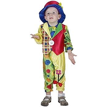 EL CARNAVAL Disfraz Payaso Circo con Sombrero Flor niño Talla de 2 ...