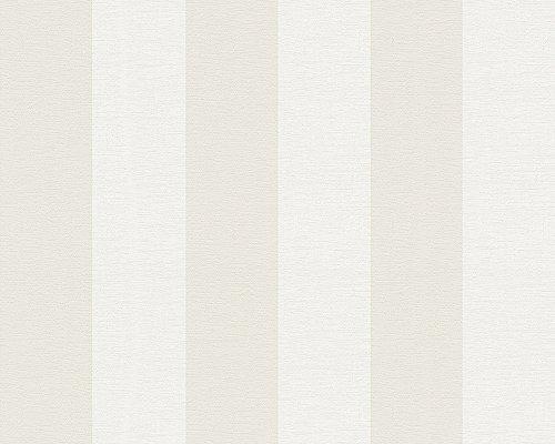 A.S. Cration Libert 314055shabby Chic carta da parati 10,05x 0,53m, beige/bianco