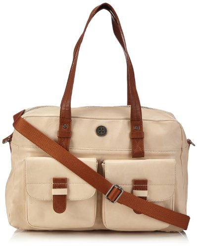 Brunotti Carry All BB4133-003 Damen Shopper 41x27x16 cm (B x H x T), Elfenbein (Off White 003)